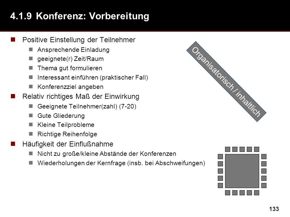 4.1.9 Konferenz: Vorbereitung