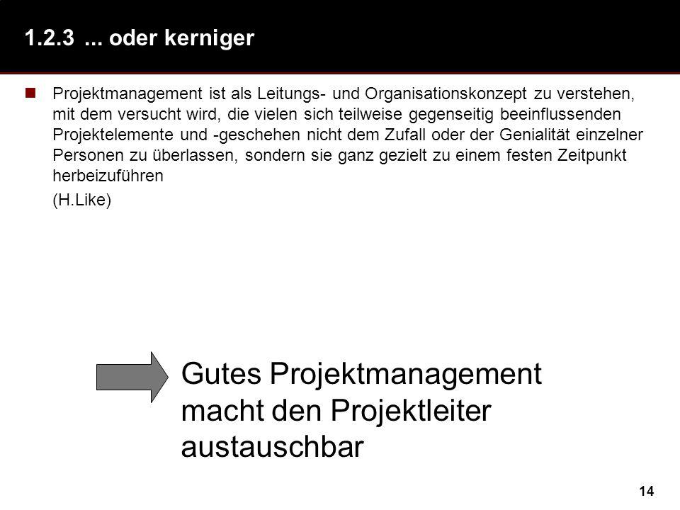 Gutes Projektmanagement macht den Projektleiter austauschbar