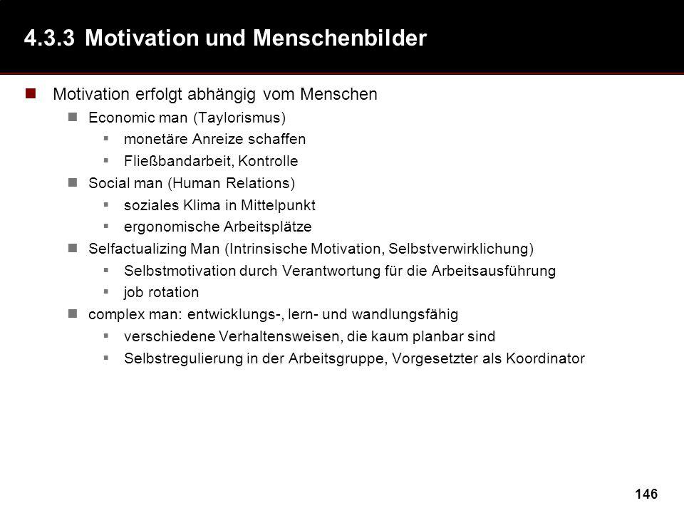 4.3.3 Motivation und Menschenbilder
