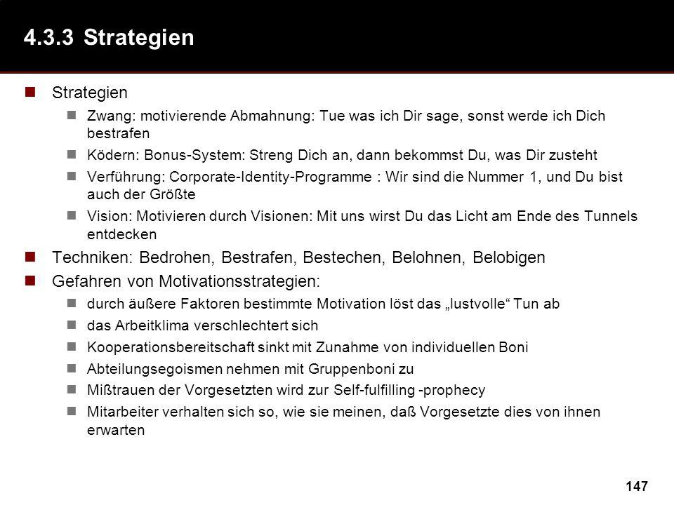 4.3.3 Strategien Strategien