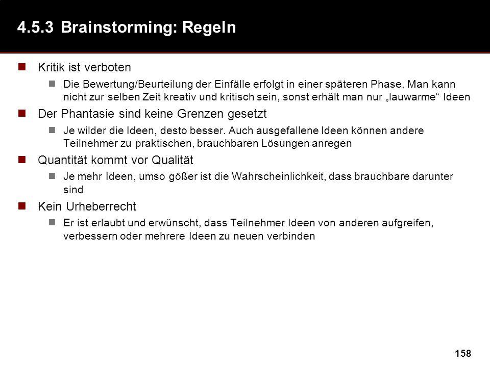 4.5.3 Brainstorming: Regeln