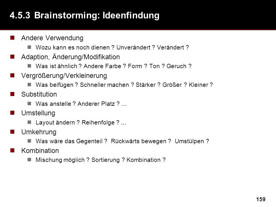 4.5.3 Brainstorming: Ideenfindung