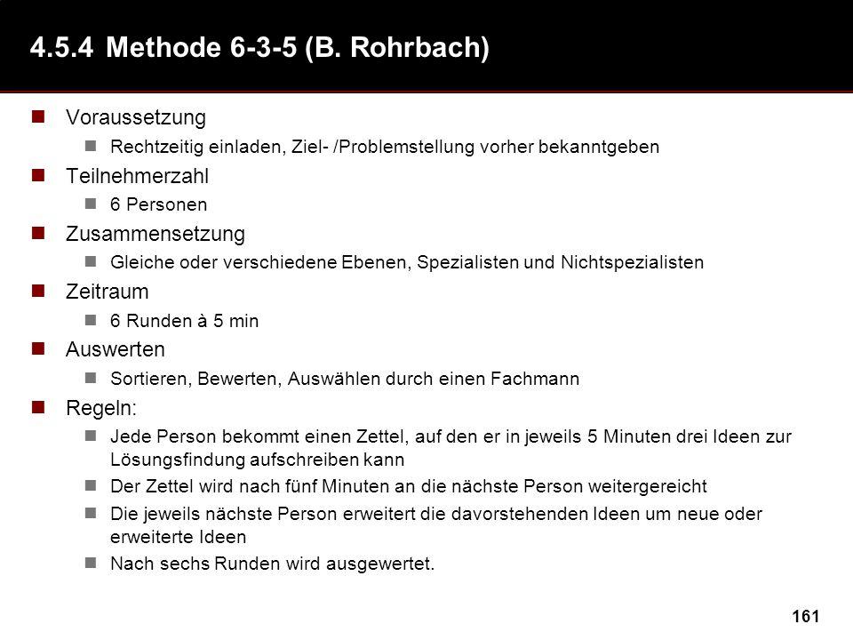 4.5.4 Methode 6-3-5 (B. Rohrbach)