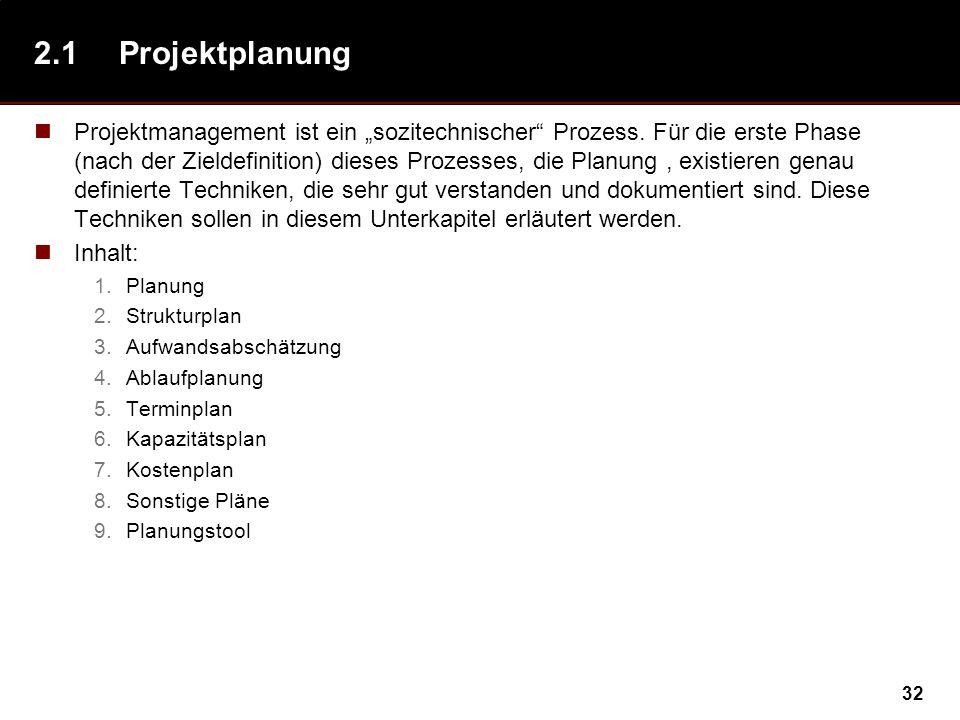 2.1 Projektplanung