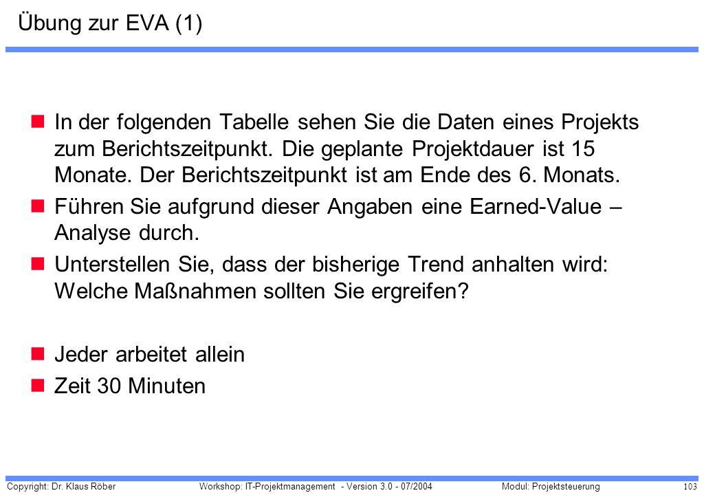 Übung zur EVA (1)