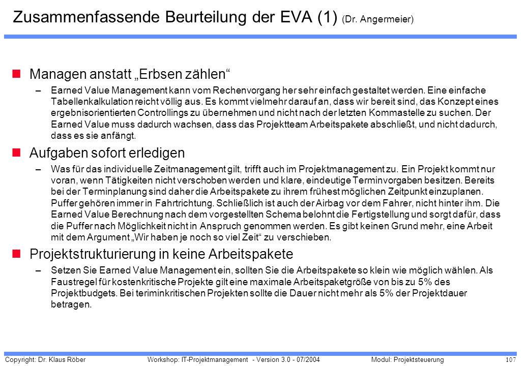 Zusammenfassende Beurteilung der EVA (1) (Dr. Angermeier)