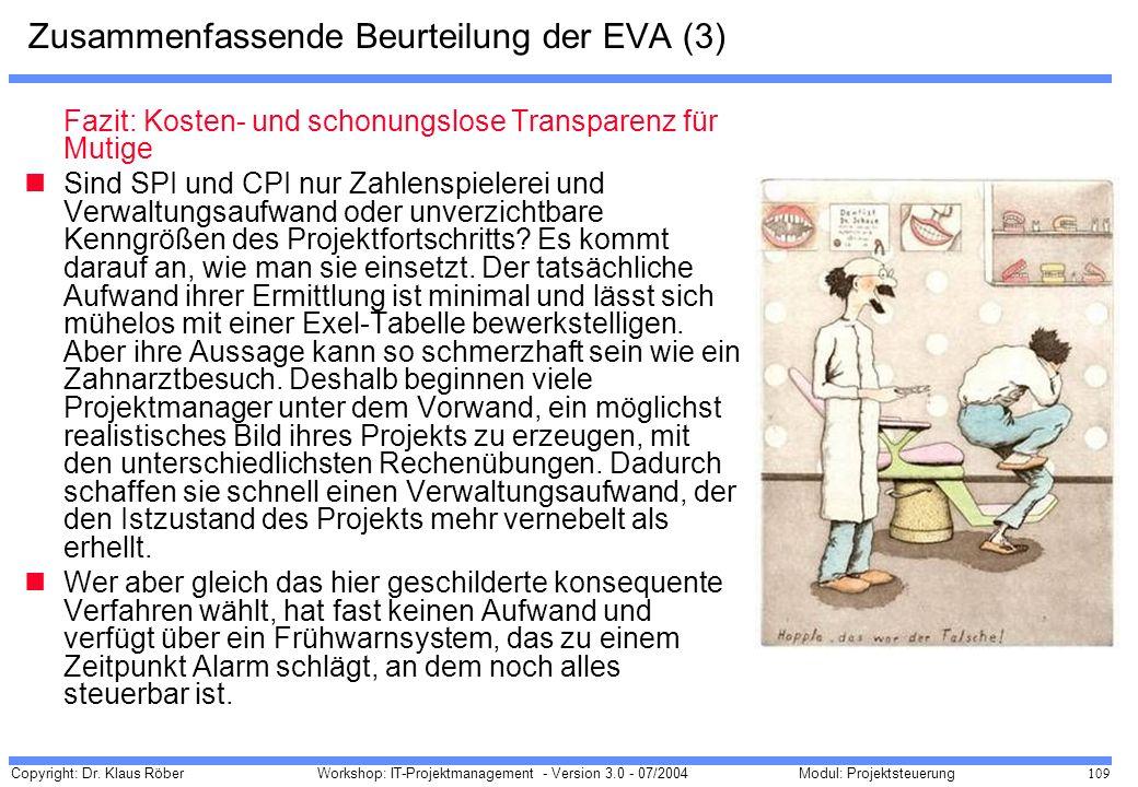 Zusammenfassende Beurteilung der EVA (3)
