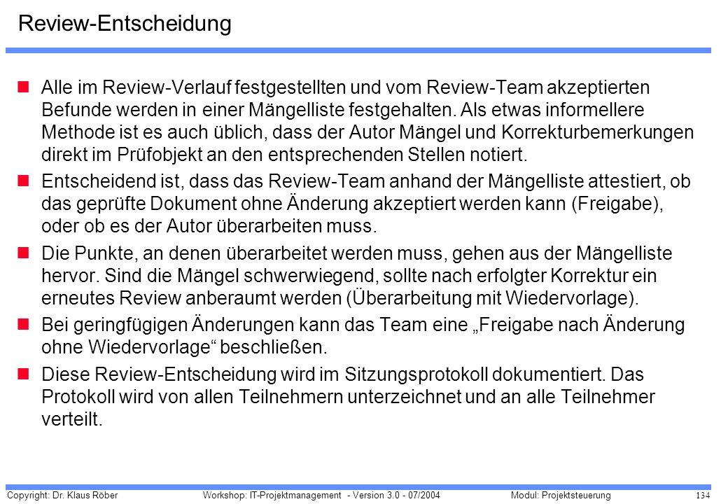 Review-Entscheidung