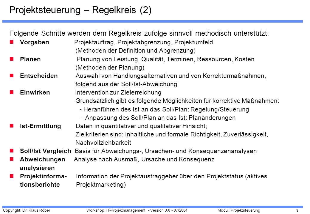 Projektsteuerung – Regelkreis (2)