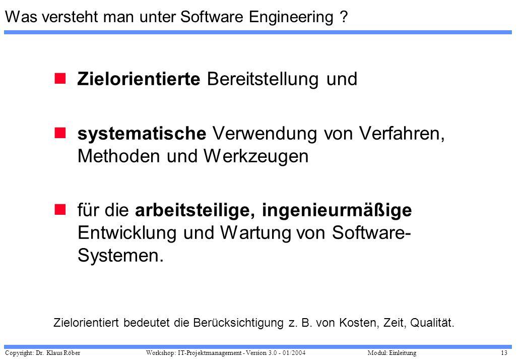 Was versteht man unter Software Engineering