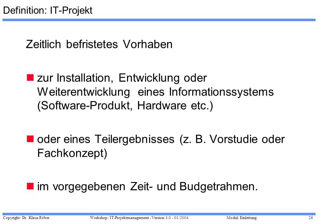 Definition: IT-Projekt