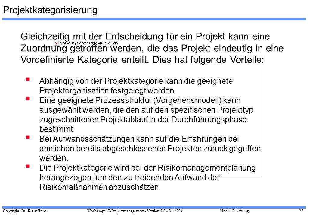 Projektkategorisierung