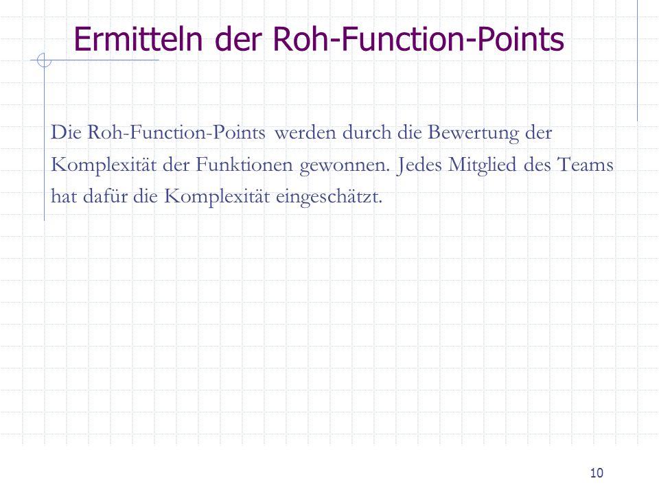 Ermitteln der Roh-Function-Points