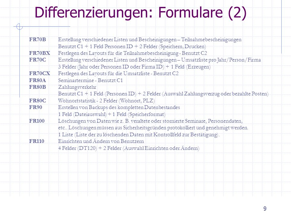 Differenzierungen: Formulare (2)