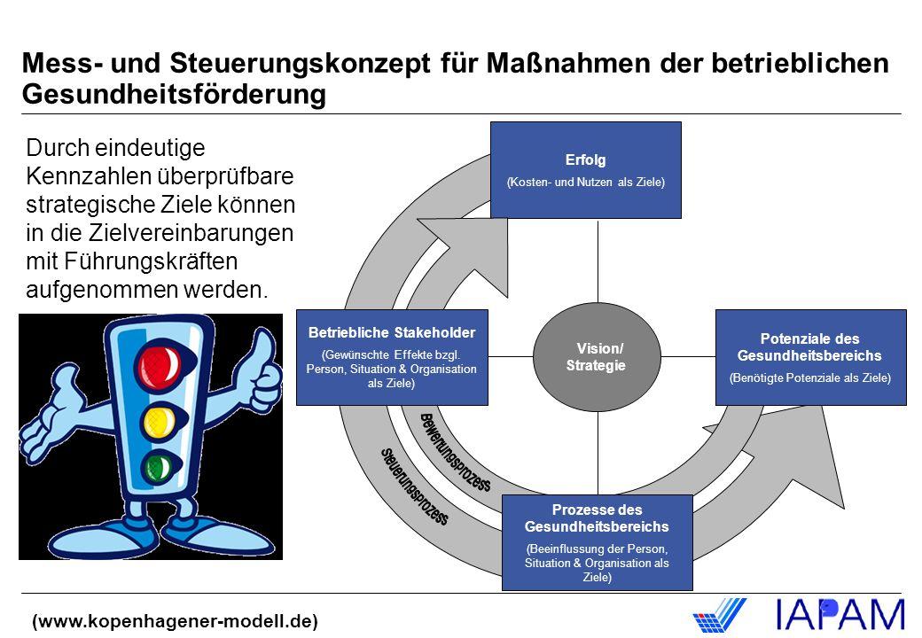 Mess- und Steuerungskonzept für Maßnahmen der betrieblichen Gesundheitsförderung