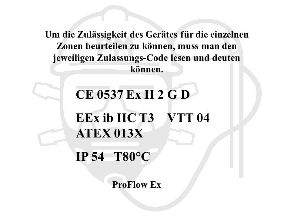 CE 0537 Ex II 2 G D EEx ib IIC T3 VTT 04 ATEX 013X IP 54 T80°C
