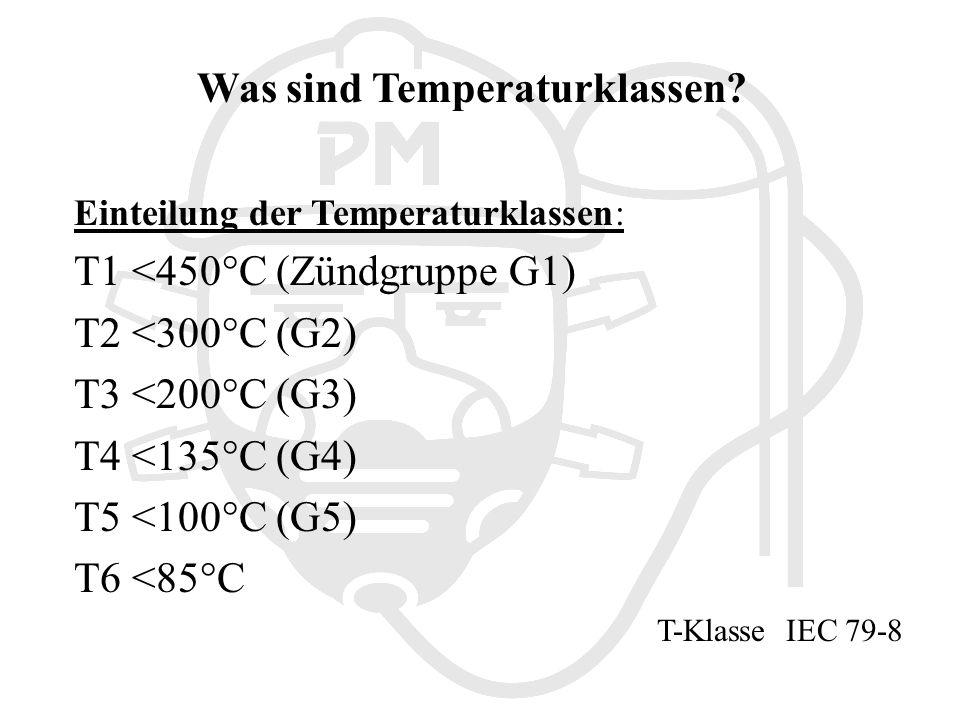 Was sind Temperaturklassen