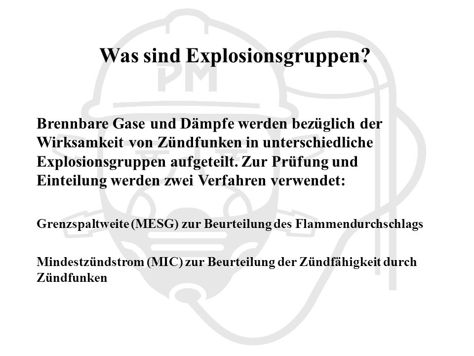 Was sind Explosionsgruppen