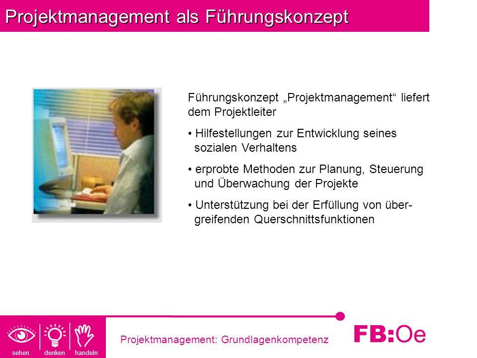 Projektmanagement als Führungskonzept