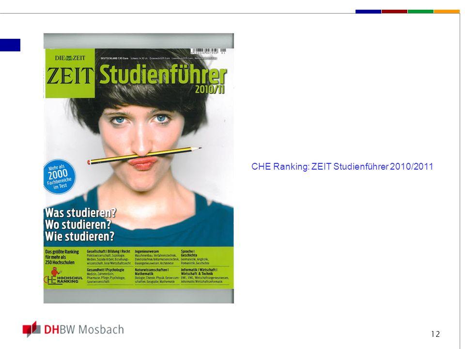 CHE Ranking: ZEIT Studienführer 2010/2011