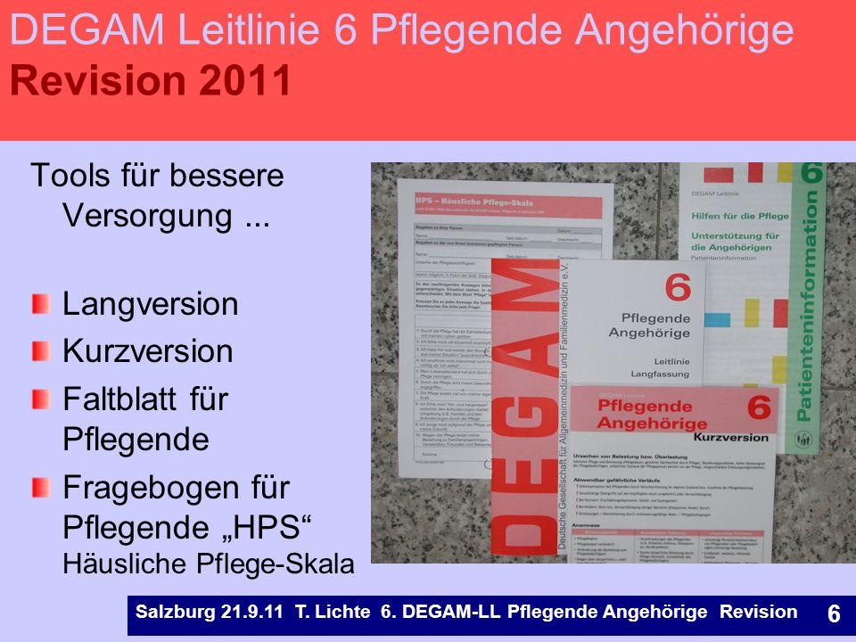 Entwicklung 6. DEGAM-LL Pflegende Angehörige