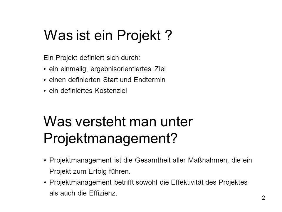 Was versteht man unter Projektmanagement