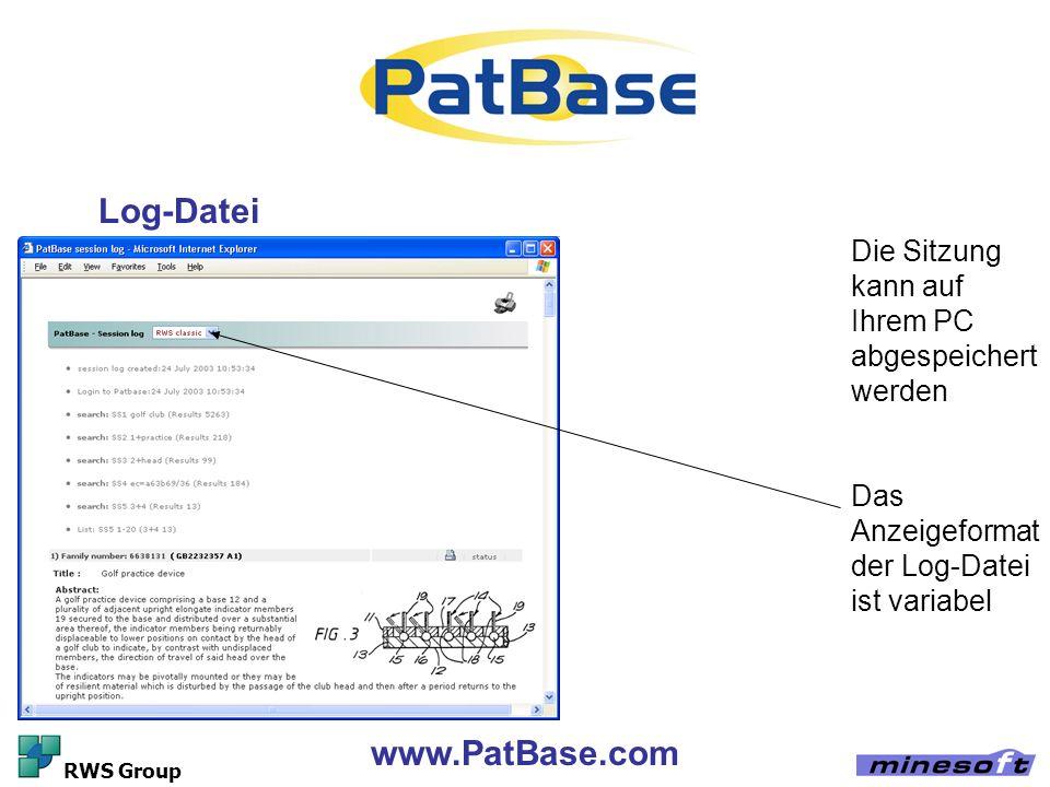 Log-Datei www.PatBase.com