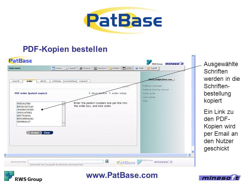 PDF-Kopien bestellen www.PatBase.com