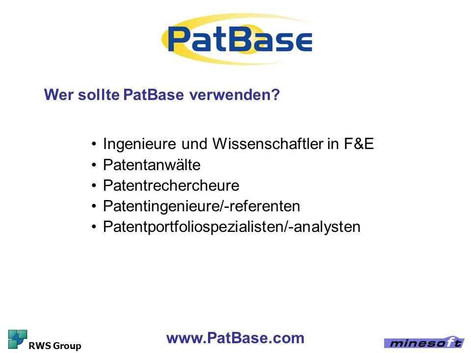 Wer sollte PatBase verwenden