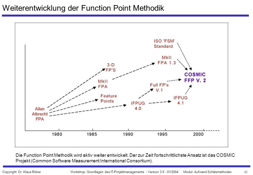 Weiterentwicklung der Function Point Methodik