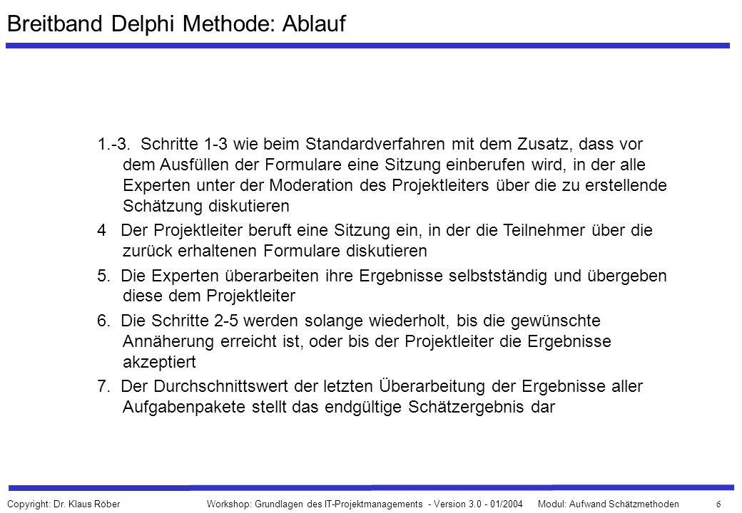 Breitband Delphi Methode: Ablauf