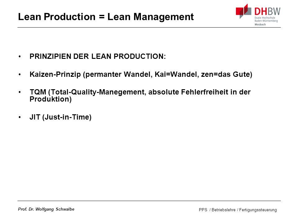 Lean Production = Lean Management