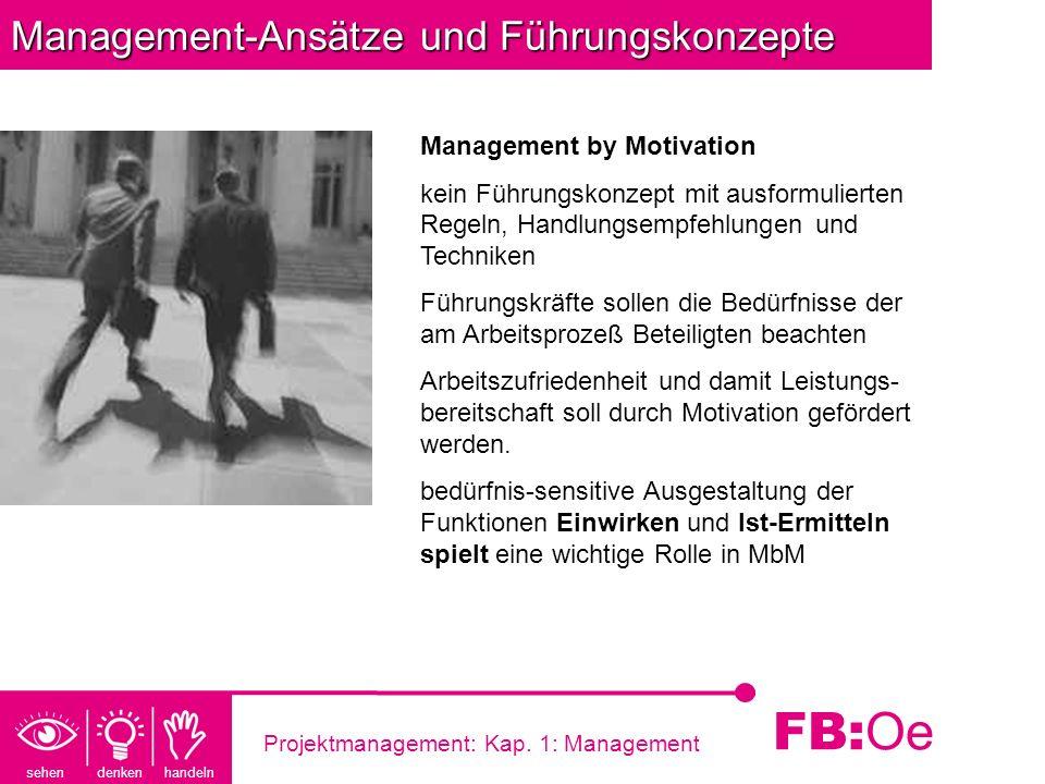 Management-Ansätze und Führungskonzepte