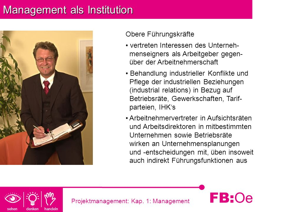 Management als Institution