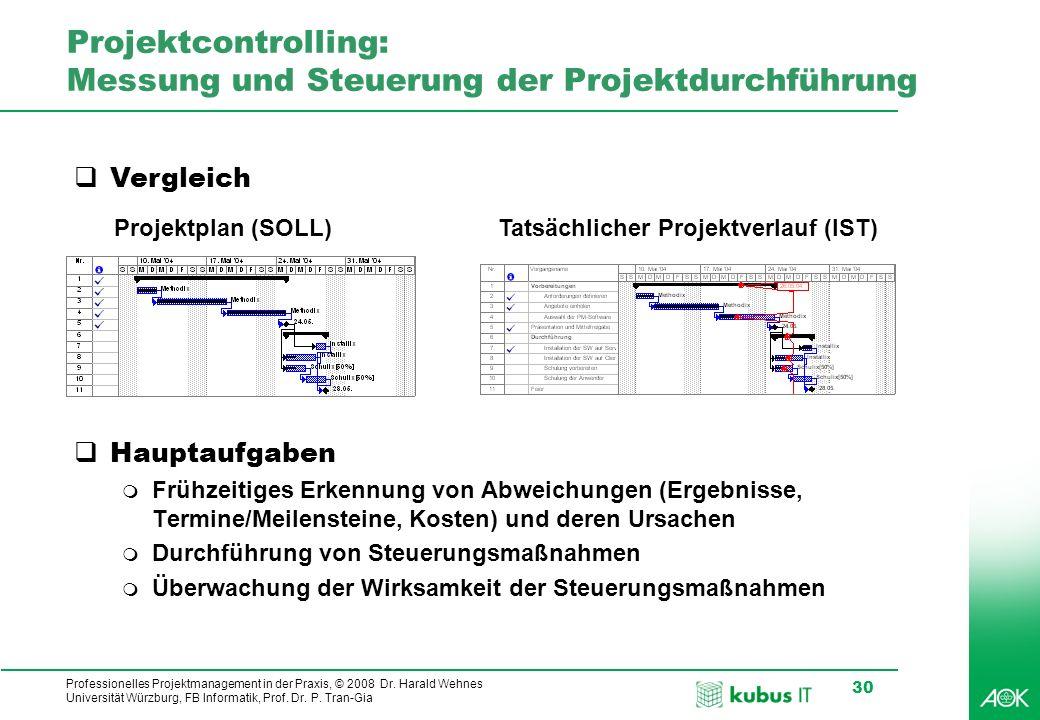Projektcontrolling: Messung und Steuerung der Projektdurchführung