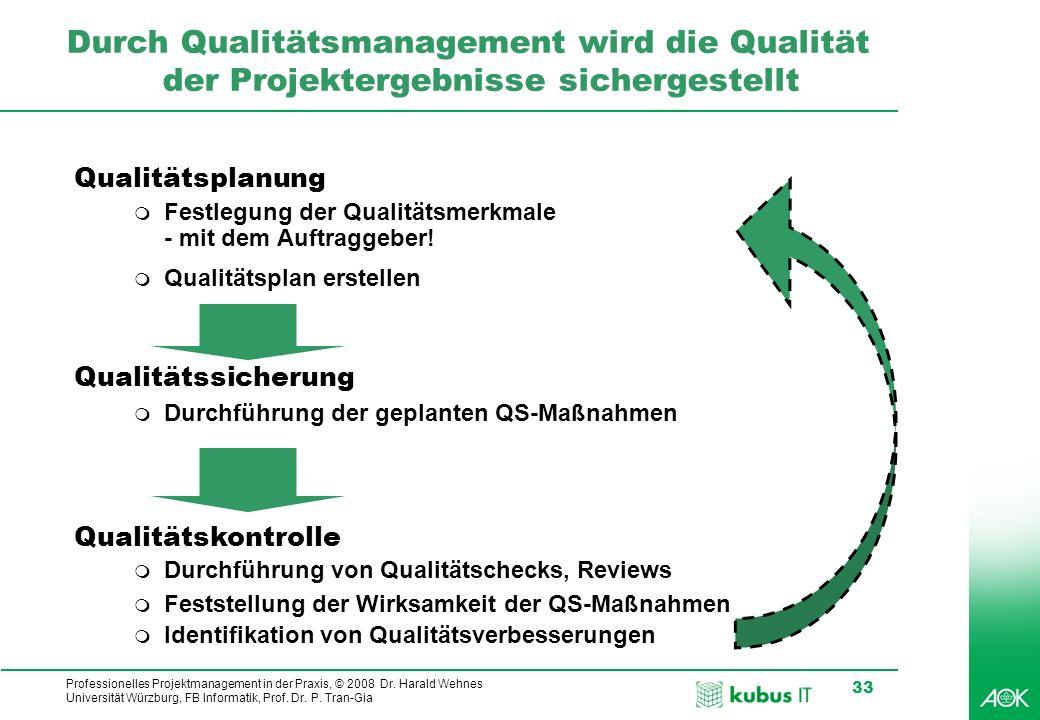 Durch Qualitätsmanagement wird die Qualität