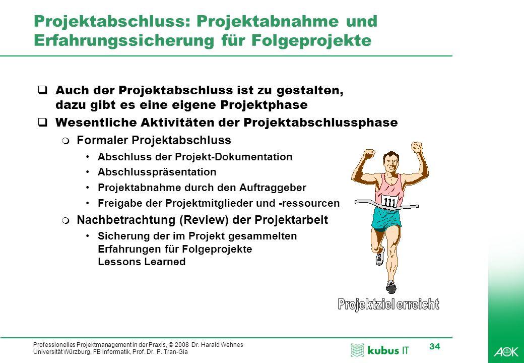 Projektabschluss: Projektabnahme und Erfahrungssicherung für Folgeprojekte
