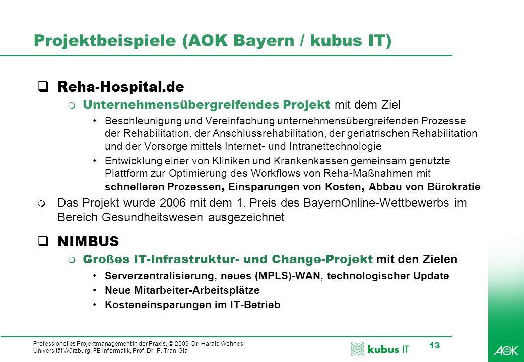 Projektbeispiele (AOK Bayern / kubus IT)