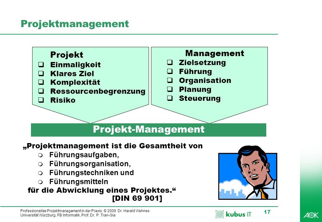 Projektmanagement Projekt Projekt-Management Management Einmaligkeit
