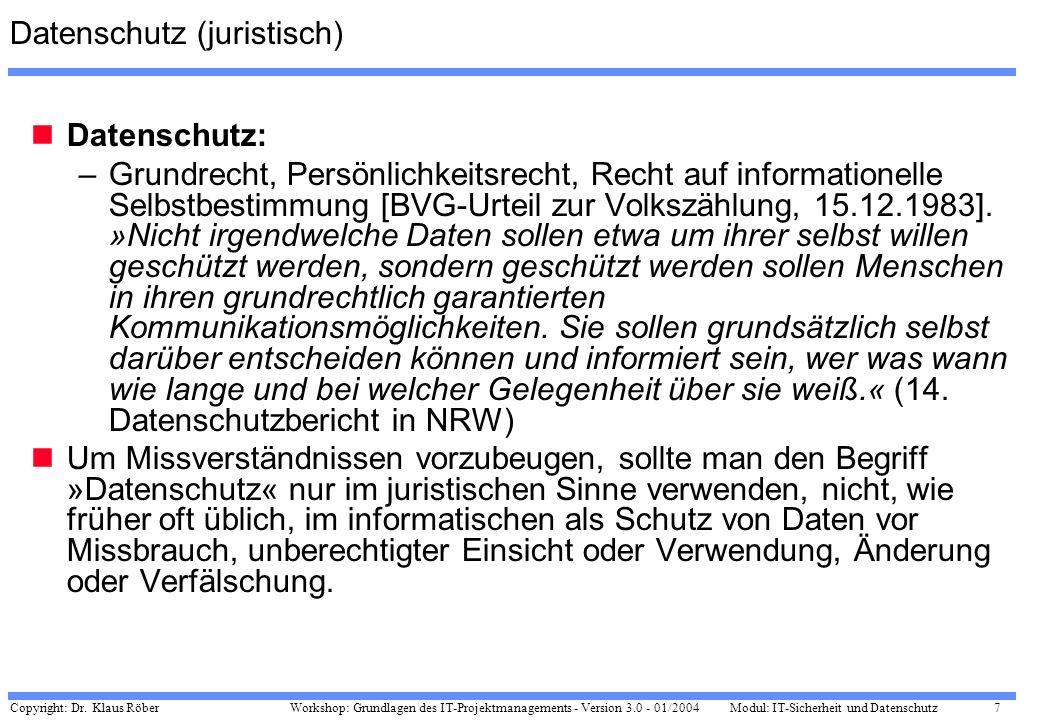 Datenschutz (juristisch)