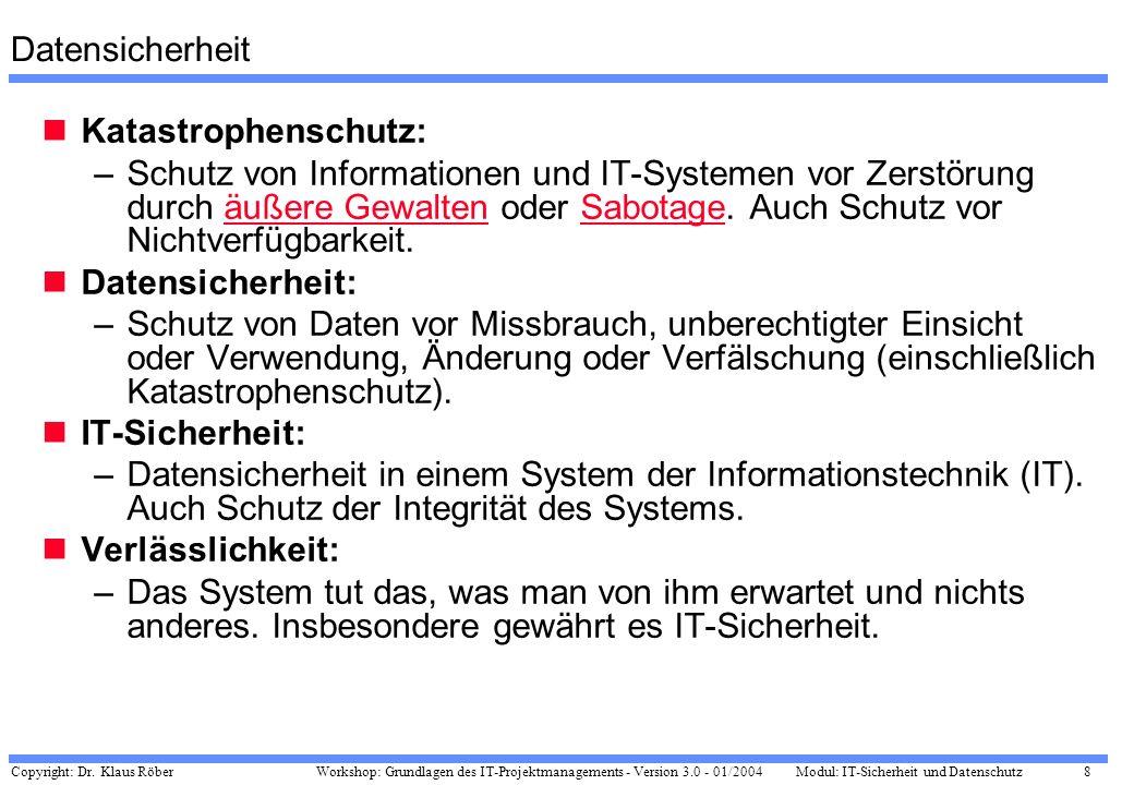 DatensicherheitKatastrophenschutz: