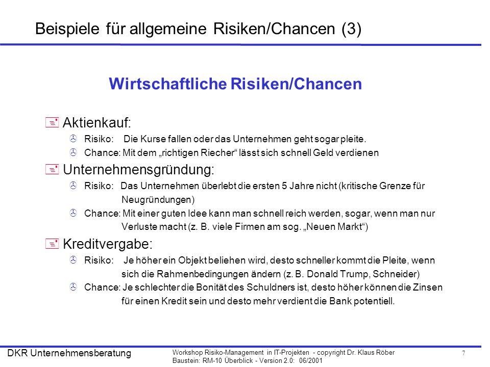 Beispiele für allgemeine Risiken/Chancen (3)