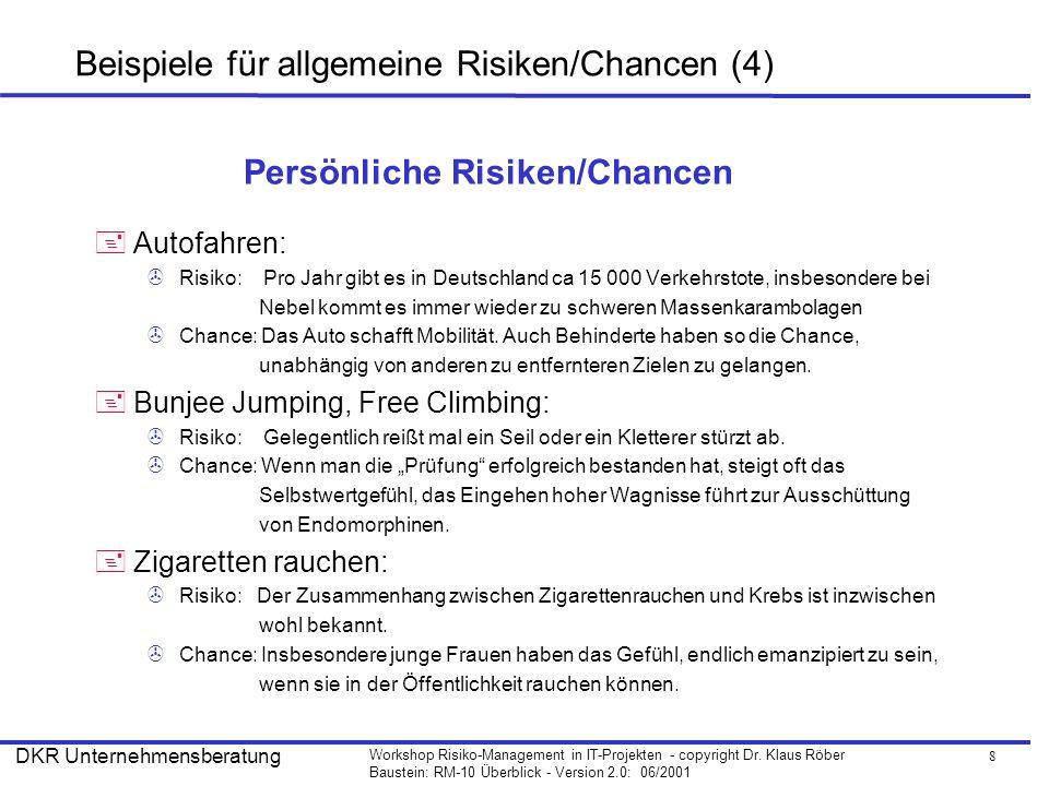 Beispiele für allgemeine Risiken/Chancen (4)