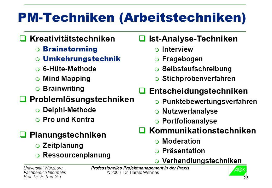 PM-Techniken (Arbeitstechniken)
