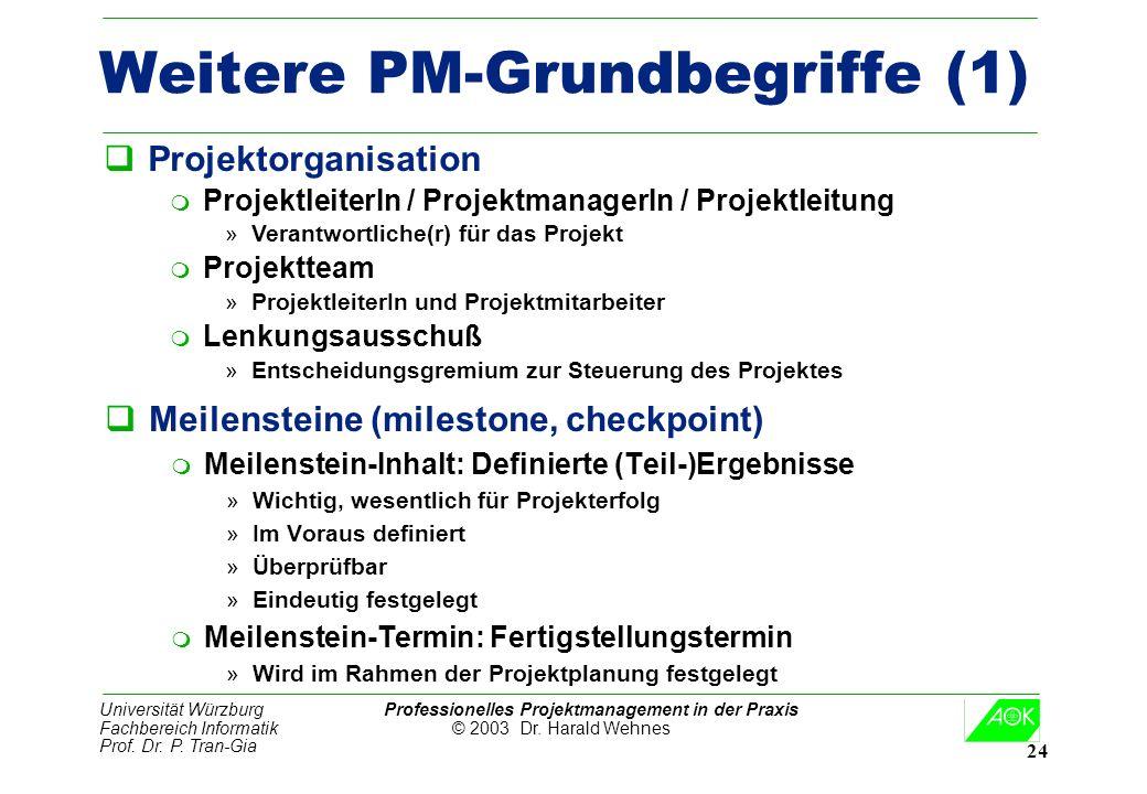 Weitere PM-Grundbegriffe (1)