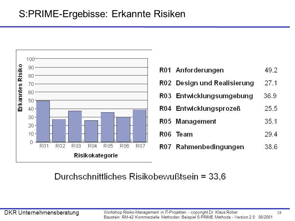 S:PRIME-Ergebisse: Erkannte Risiken