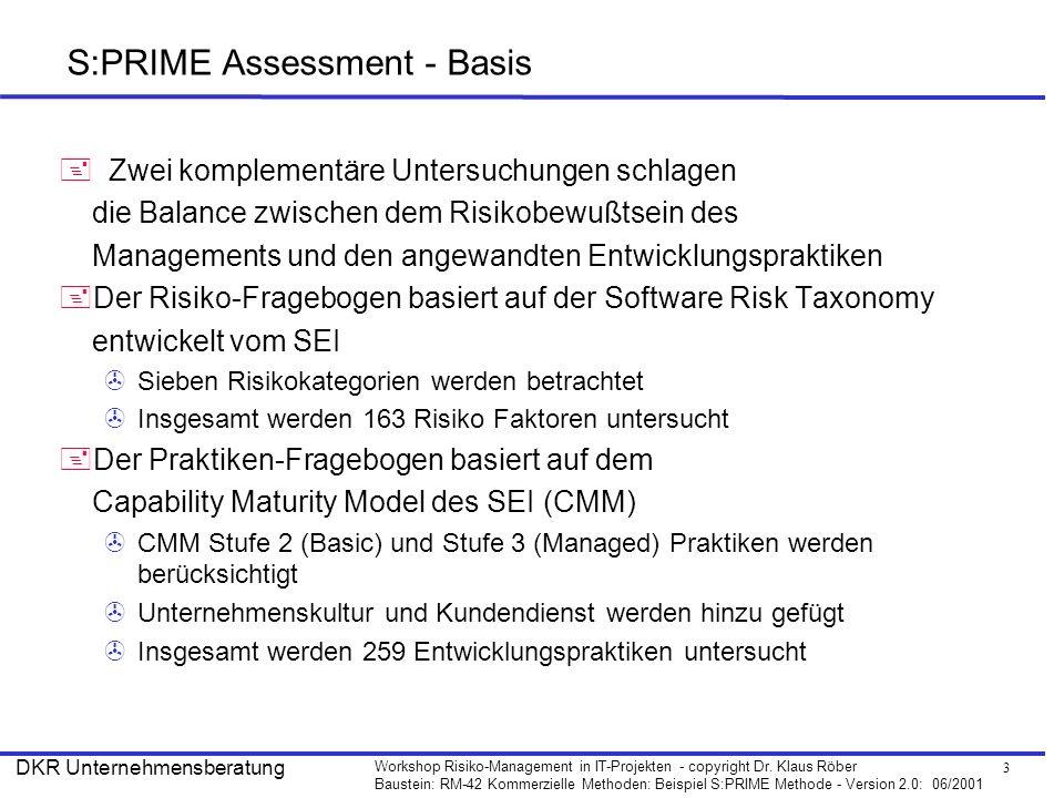 S:PRIME Assessment - Basis