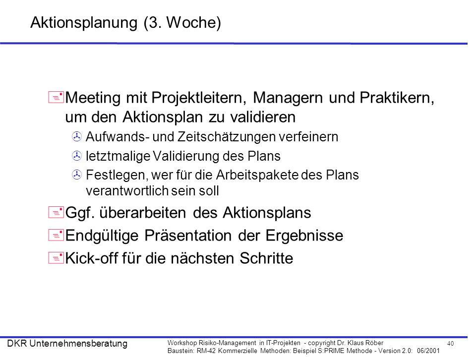 Aktionsplanung (3. Woche)