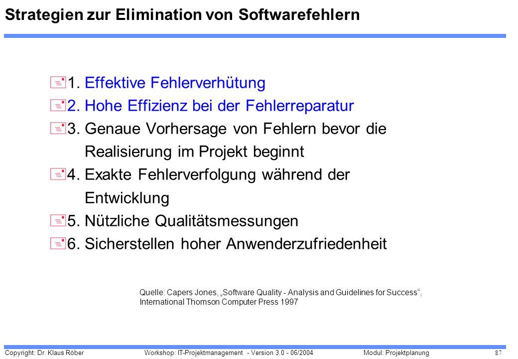 Strategien zur Elimination von Softwarefehlern