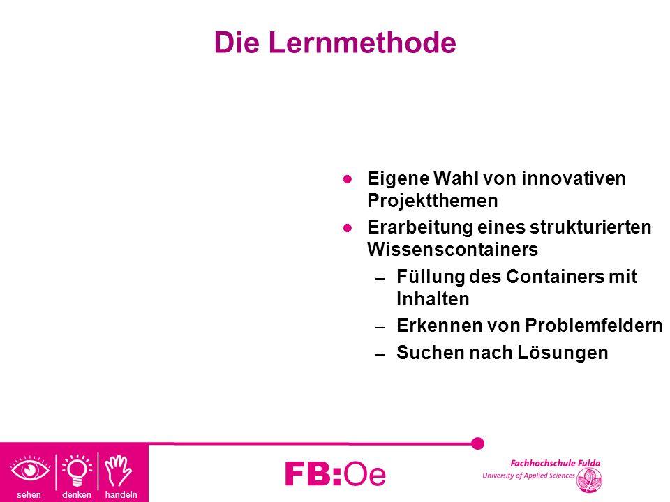 FB:Oe Die Lernmethode Eigene Wahl von innovativen Projektthemen